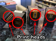 refill ink cartridges - print head image